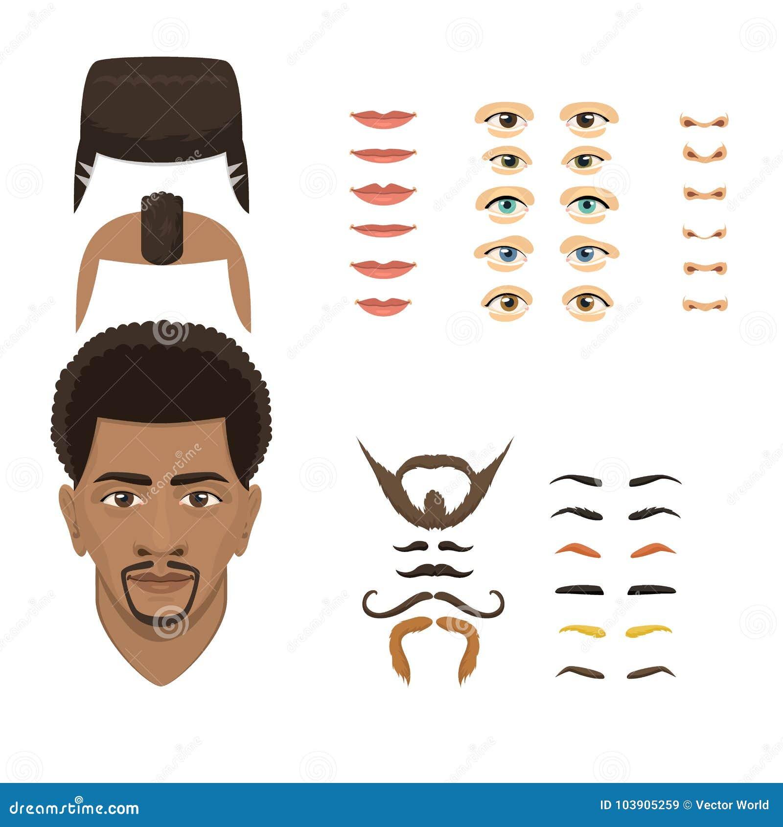 El Constructor De Las Emociones De La Cara Del Hombre Parte Los Ojos