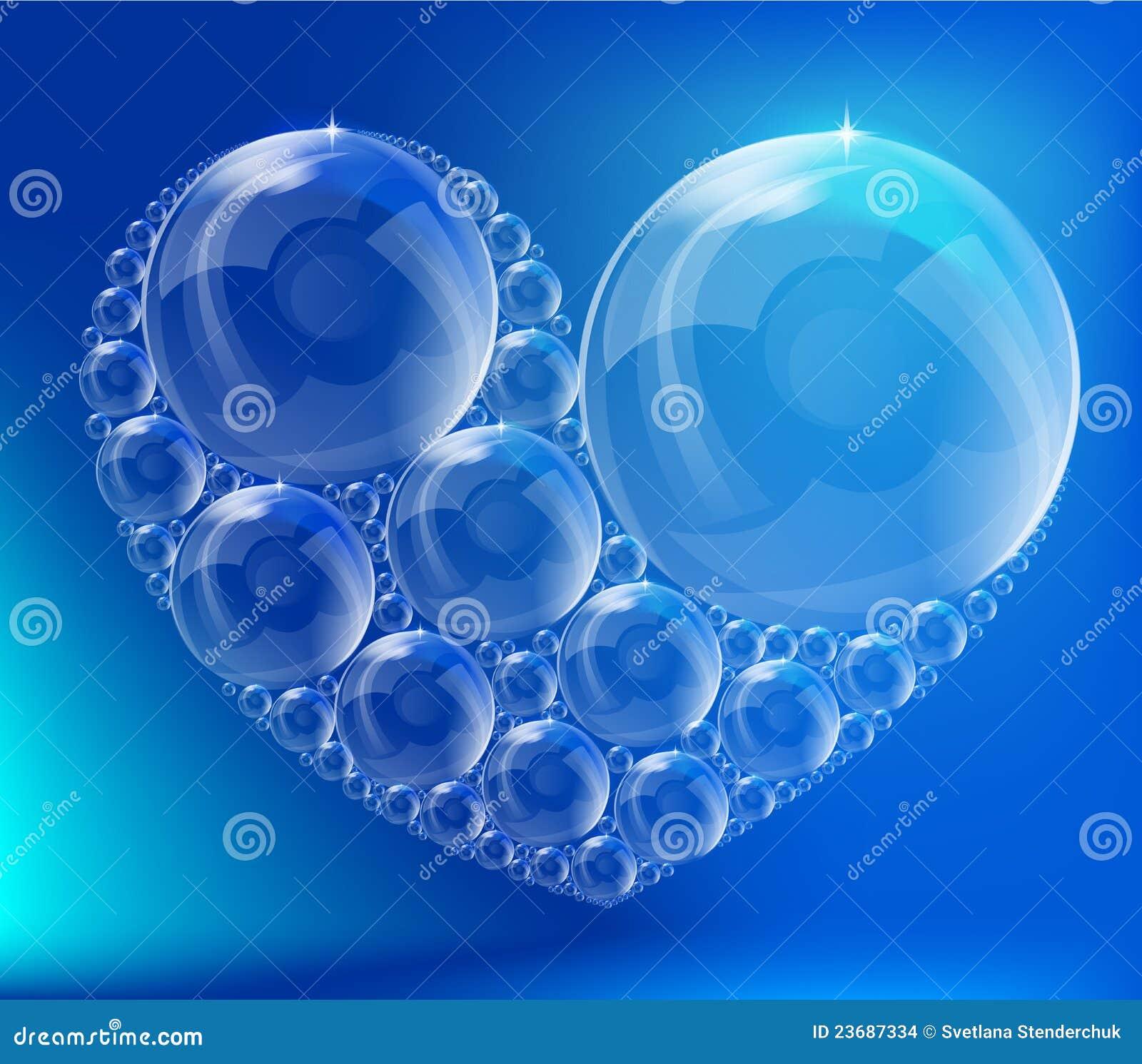 El Corazón De Las Burbujas Ilustración Del Vector Ilustración De