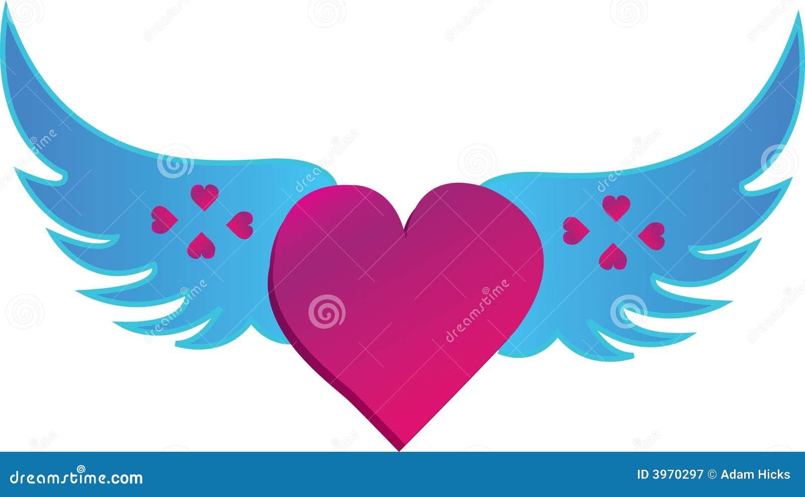 El Corazón Del Amor De Alas Ilustración Del Vector Ilustración De