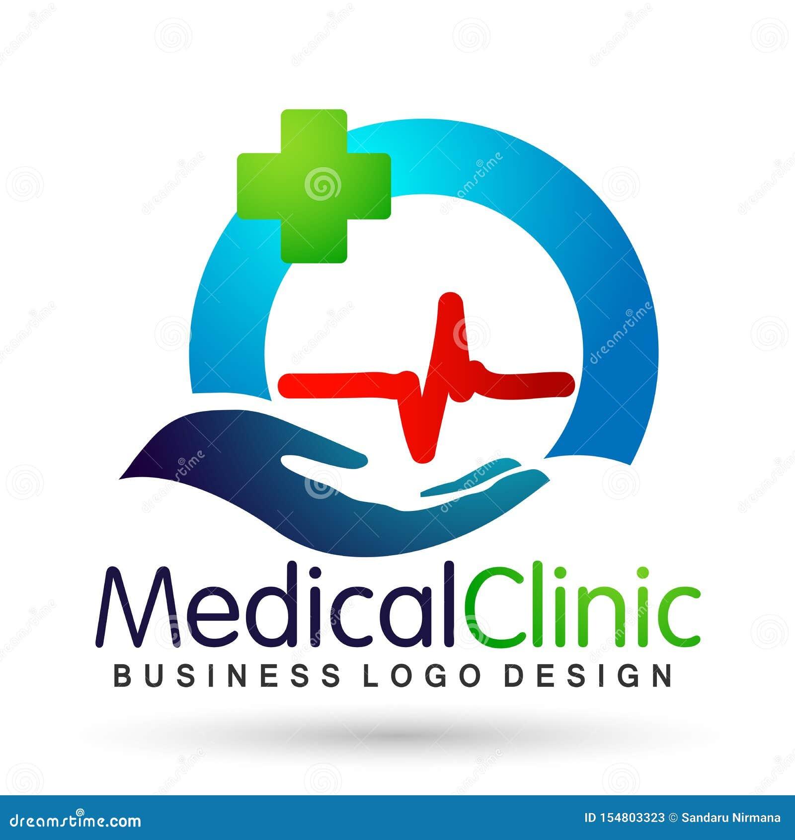 El corazón médico de la salud del mundo del globo batió el icono sano del diseño del logotipo del cuidado de vida de la gente de