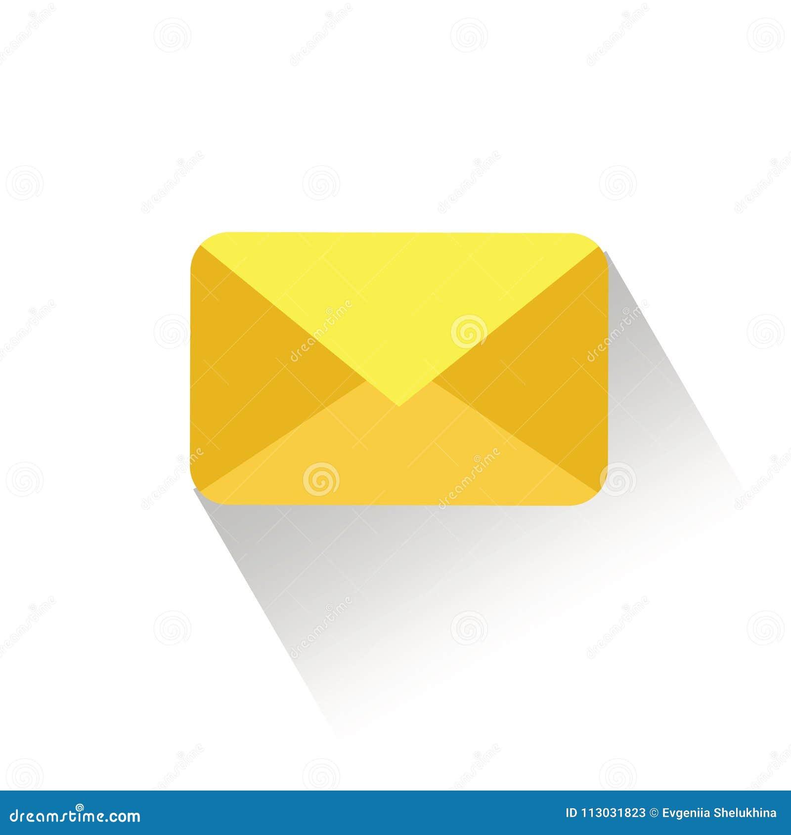 El correo electrónico envía el ejemplo del vector del concepto Icono del sobre del correo