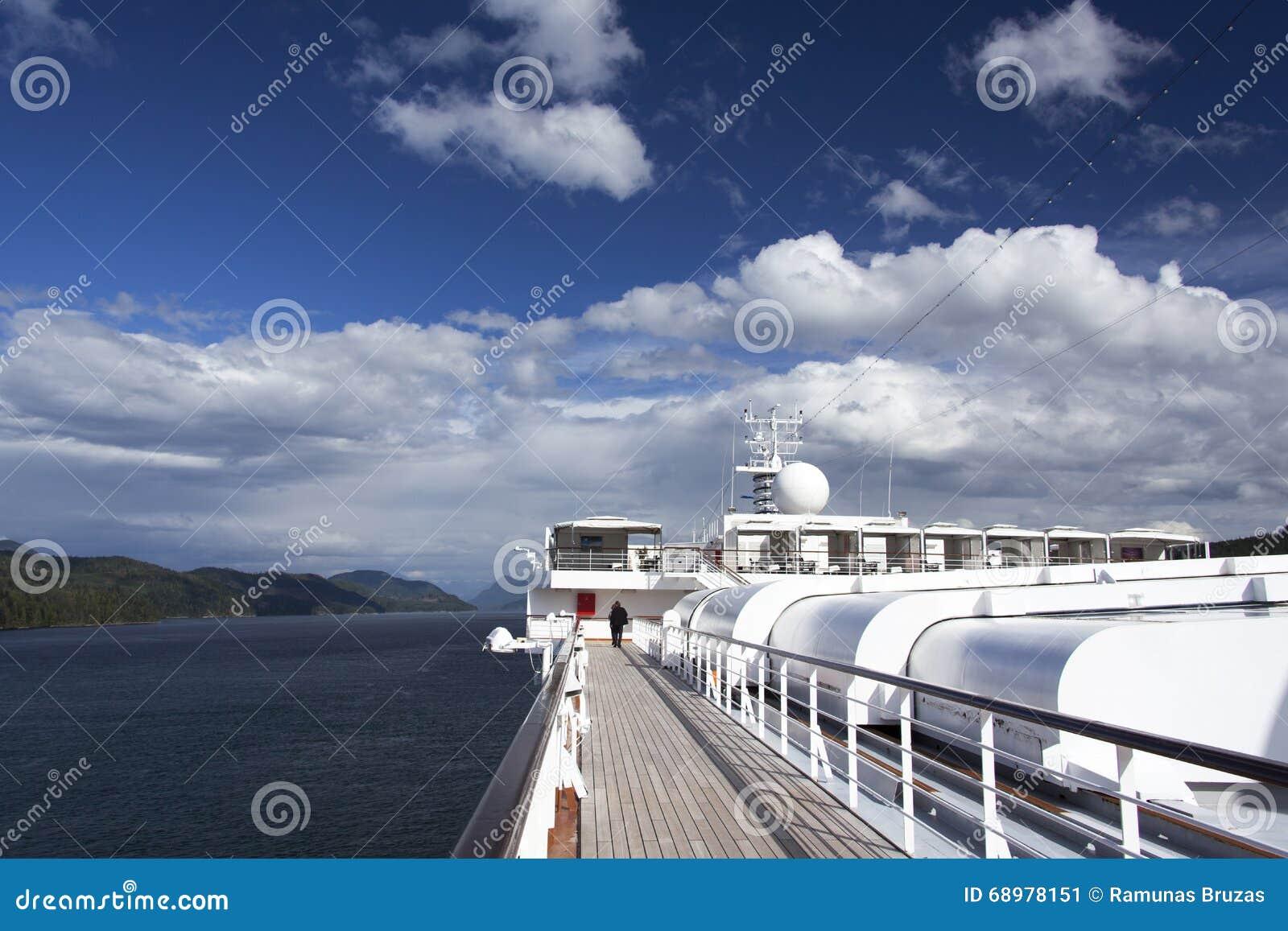El cruzar a través de la Columbia Británica
