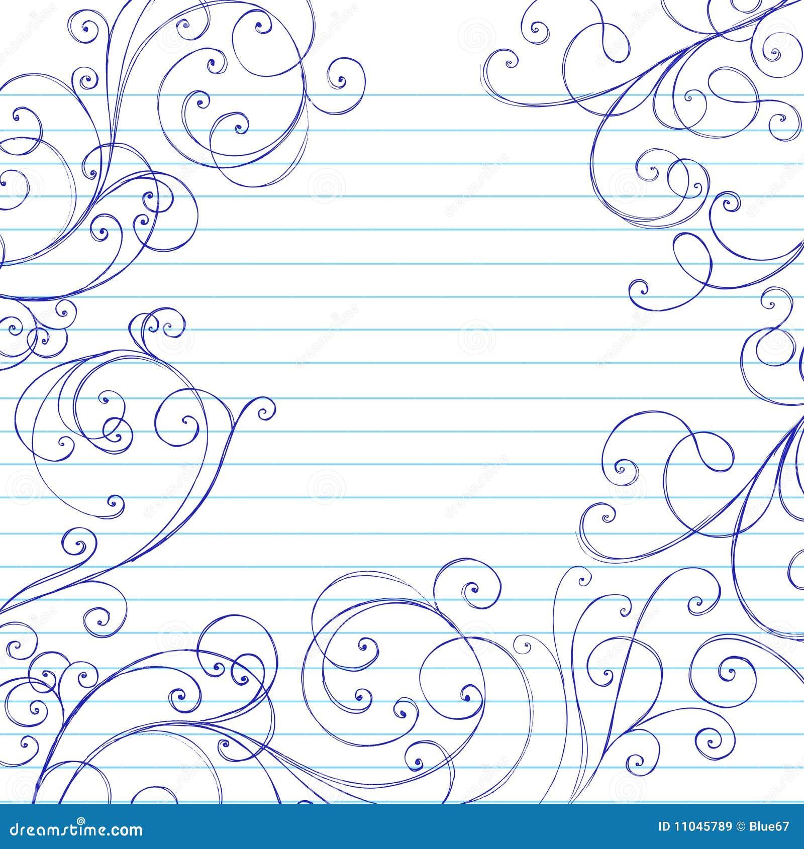 El cuaderno incompleto de los remolinos Doodles la frontera