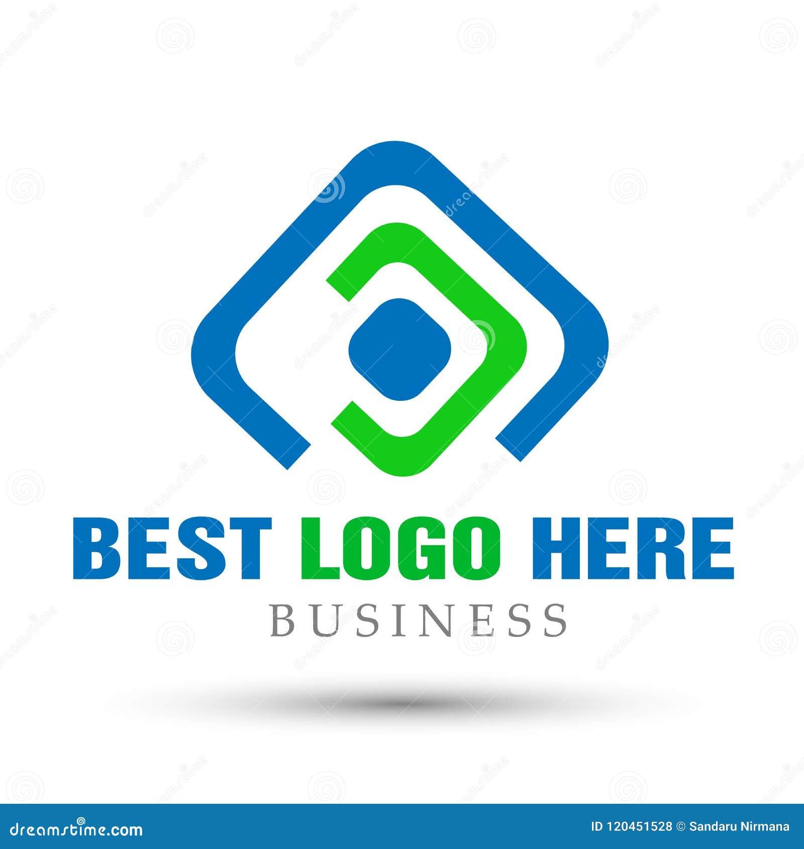 El cuadrado abstracto formó el logotipo del negocio, unión en corporativo invierte diseño del logotipo del negocio Inversión fina