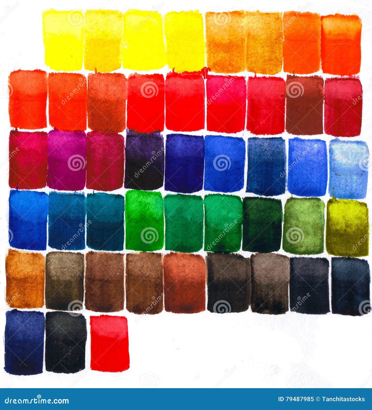 El cuadrado colorido de la acuarela teja el modelo abstracto del contexto