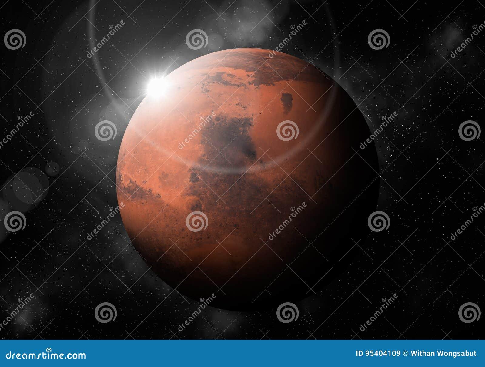 El Cuarto Planeta Del Sun Es Marte, Planetario De La Sistema Solar ...