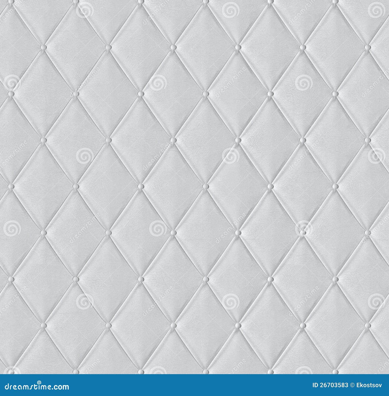 El Cuero Acolchado Blanco Embaldos 243 Textura Fotos De