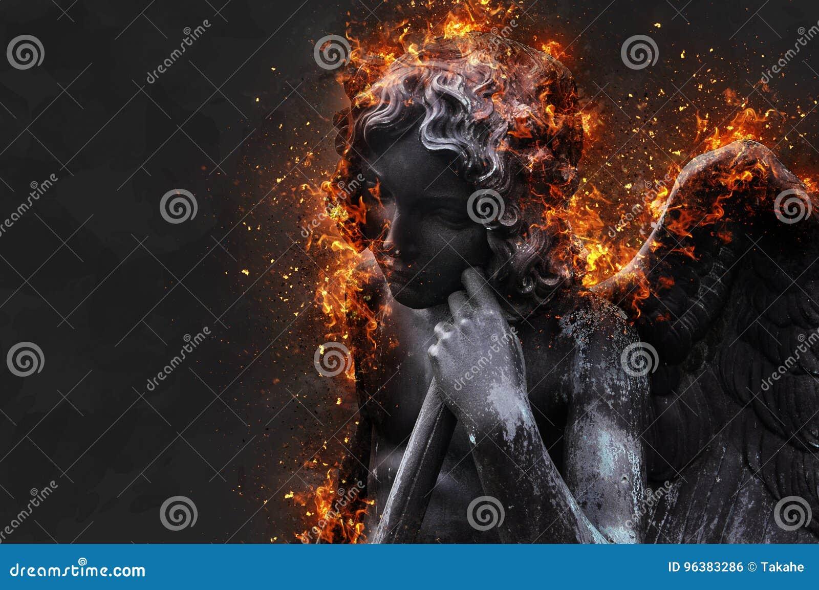 El cupido quema en infierno
