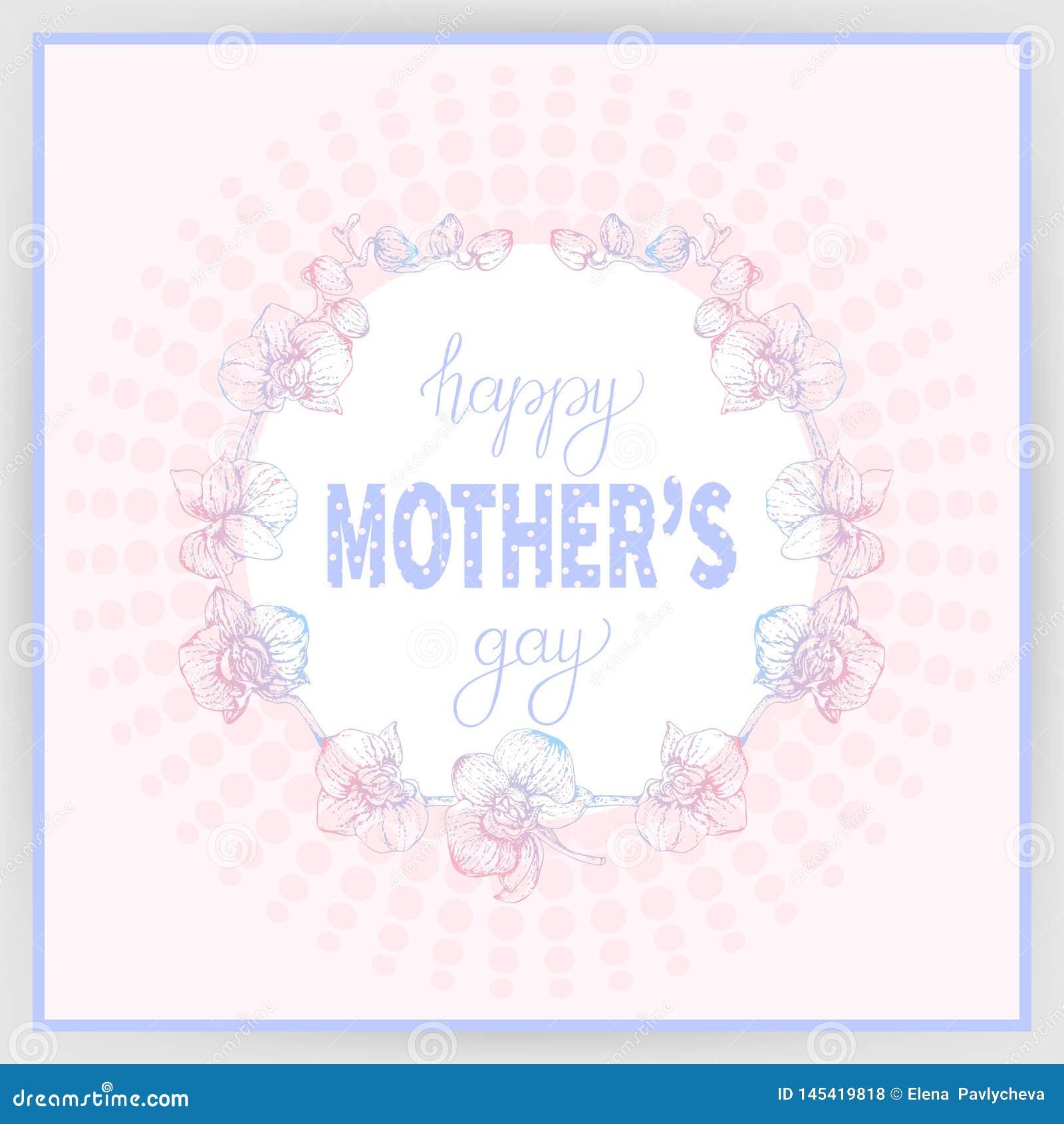 El Día De Madre Feliz 3 Stock De Ilustración Ilustración De