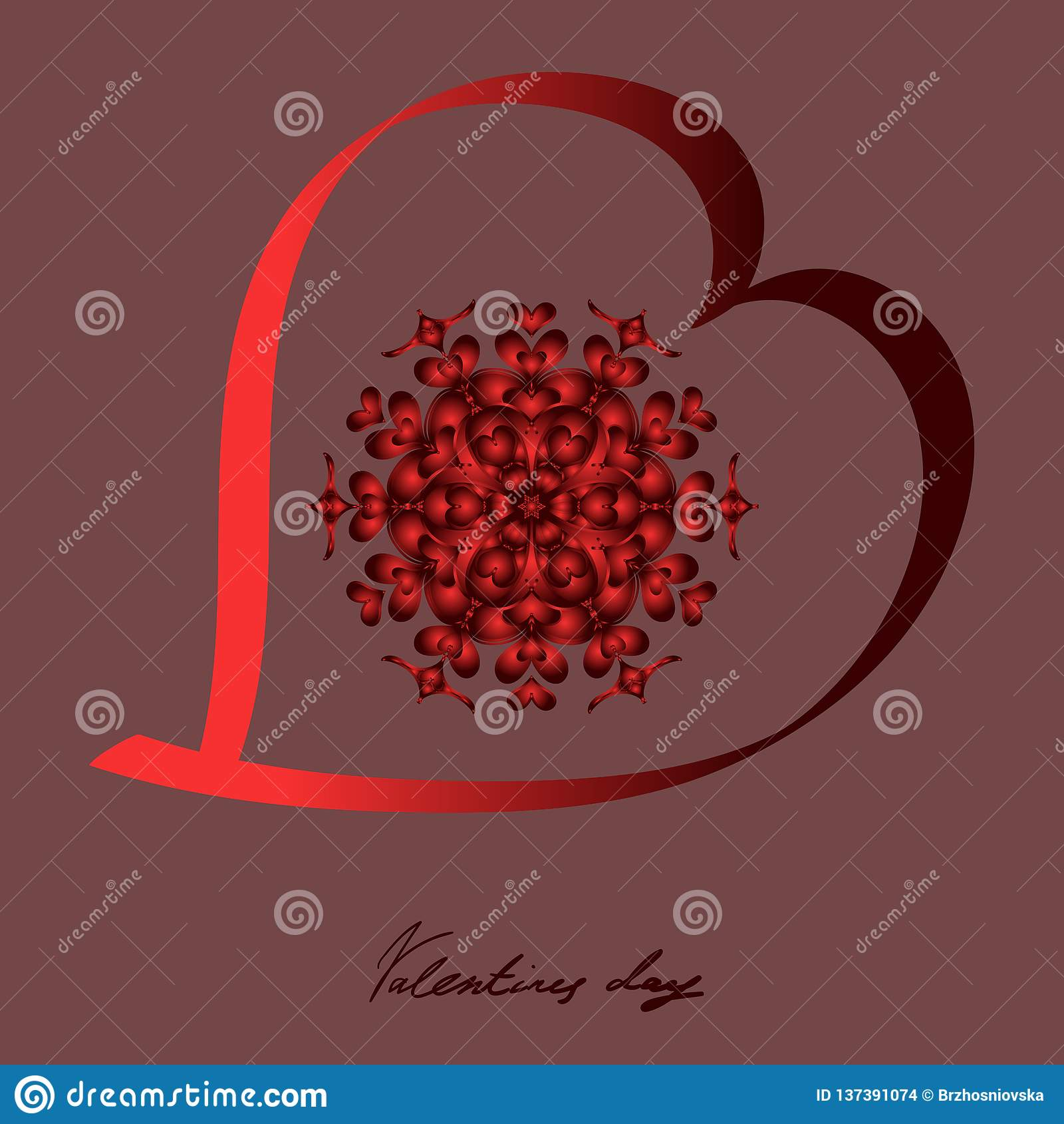 El día de tarjeta del día de San Valentín feliz, postal del vector