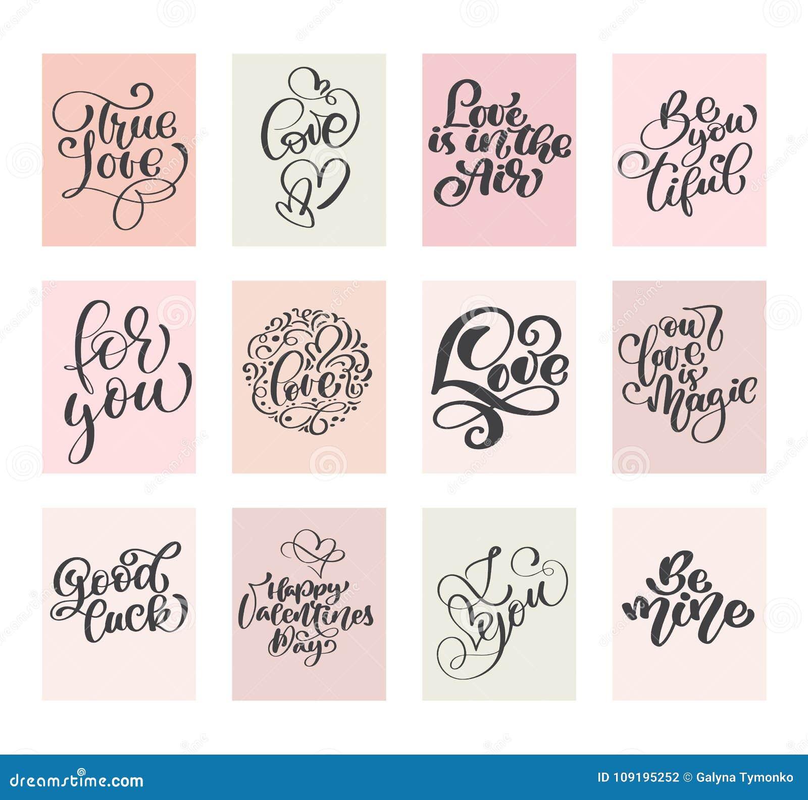 El Día De Tarjetas Del Día De San Valentín Determinado Del Vector ...