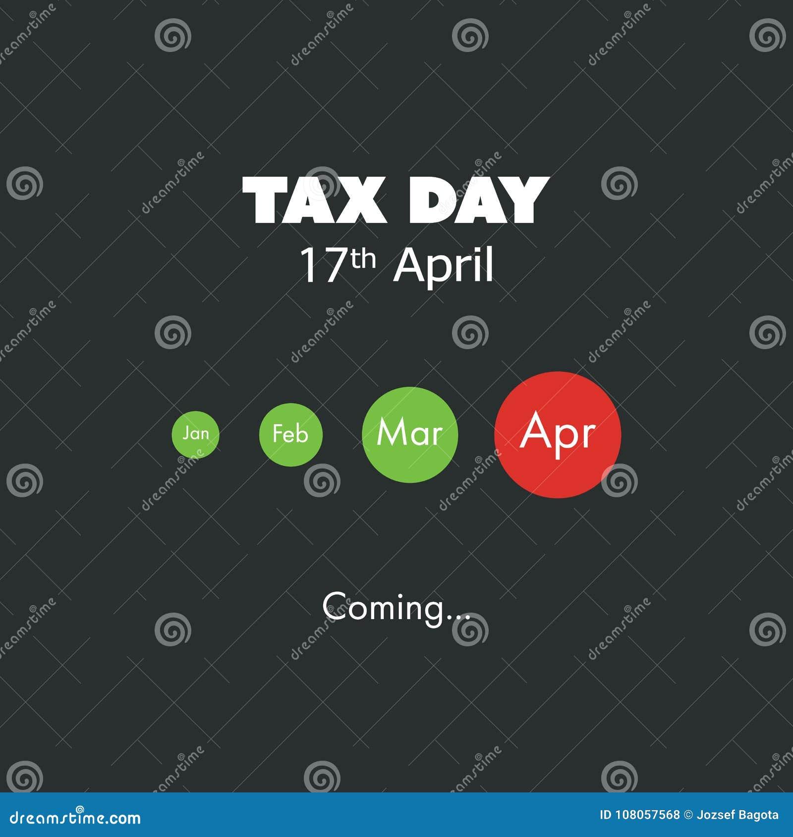 El Día Del Impuesto Está Viniendo, Plantilla Del Diseño - Plazo Del ...