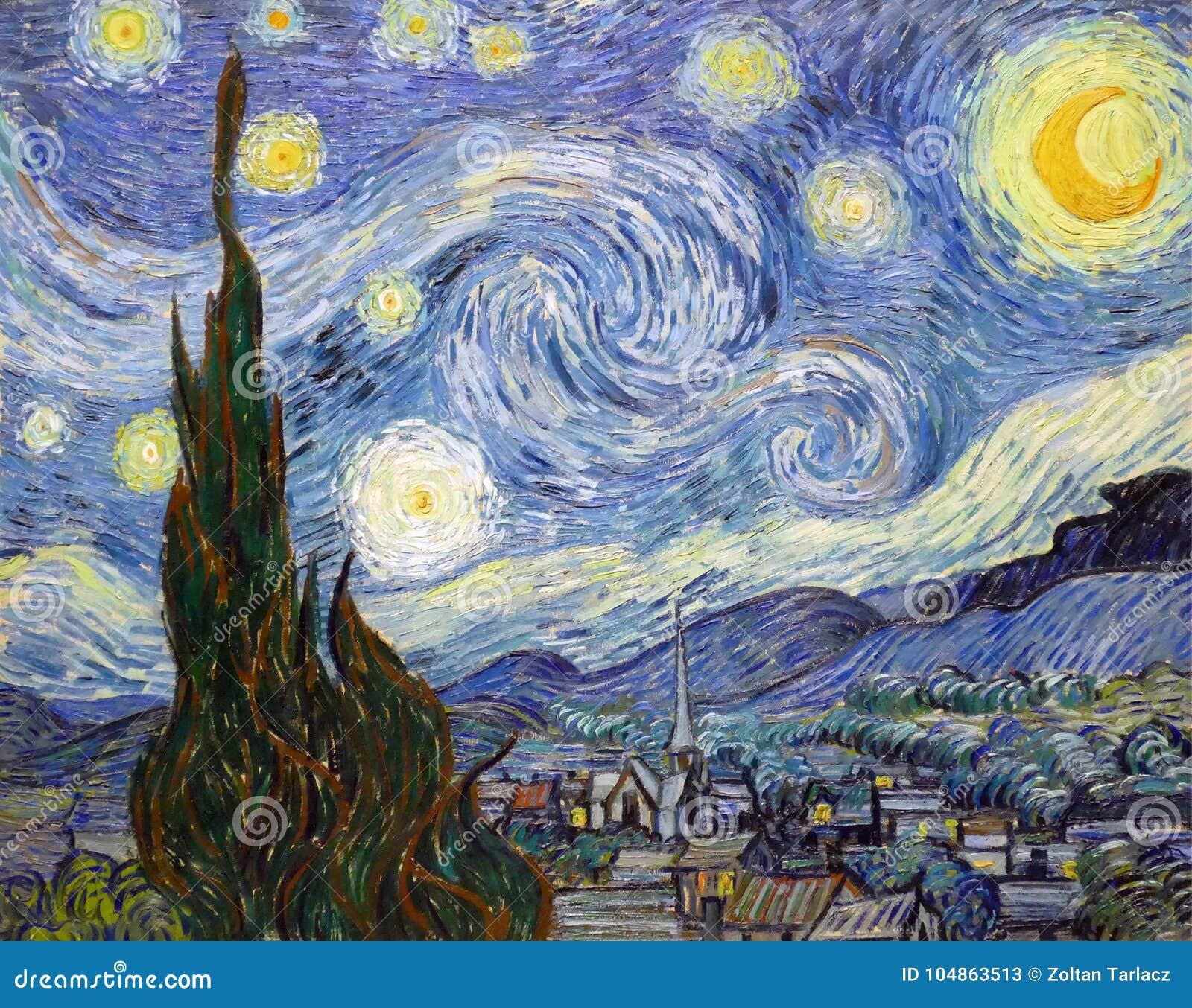 ` El ` De La Noche Estrellada Pintado Por Vincent Van Gogh.