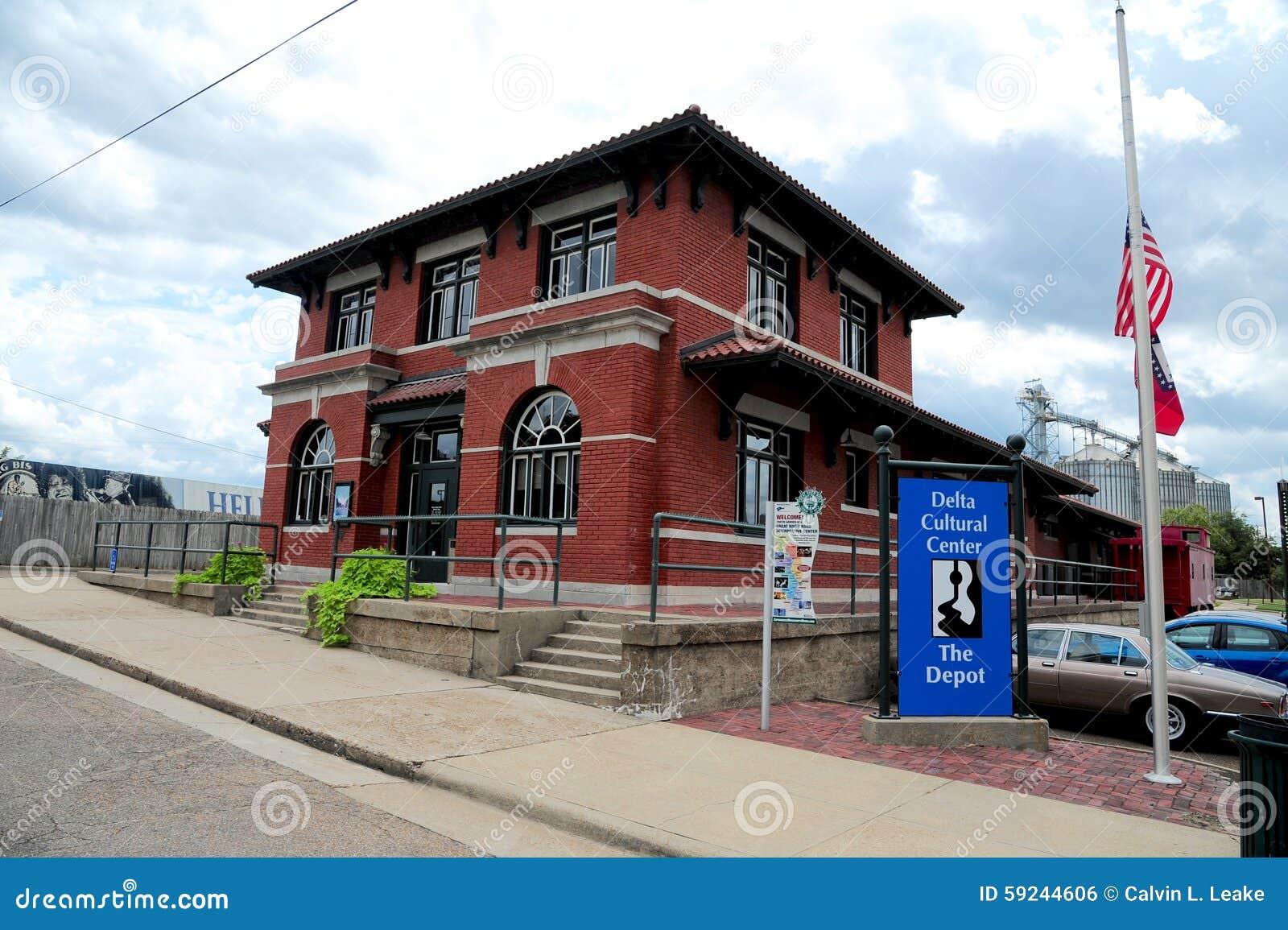 El depósito de tren de centro cultural del delta, Helena Arkansas