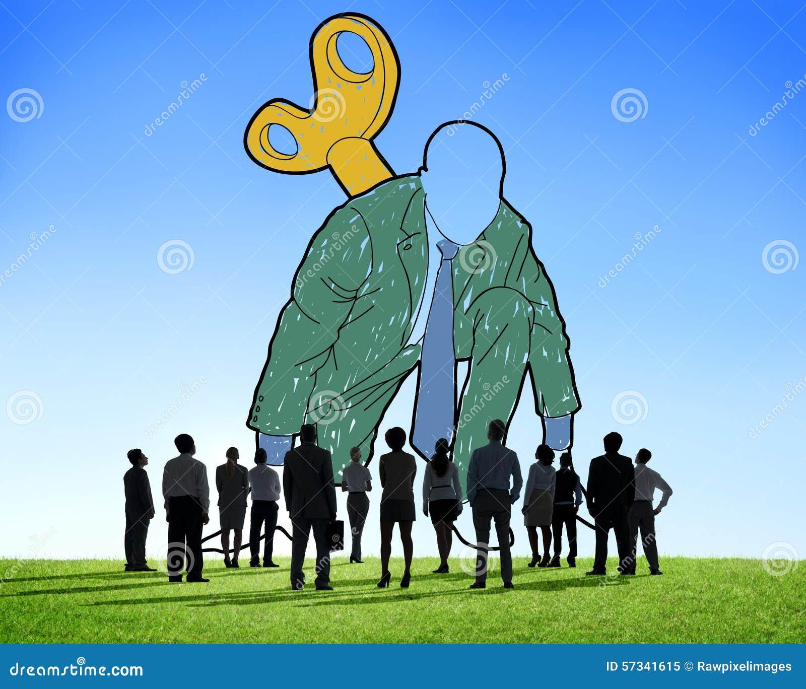 El desafío de lanzamiento de la activación del negocio enrolla para arriba concepto