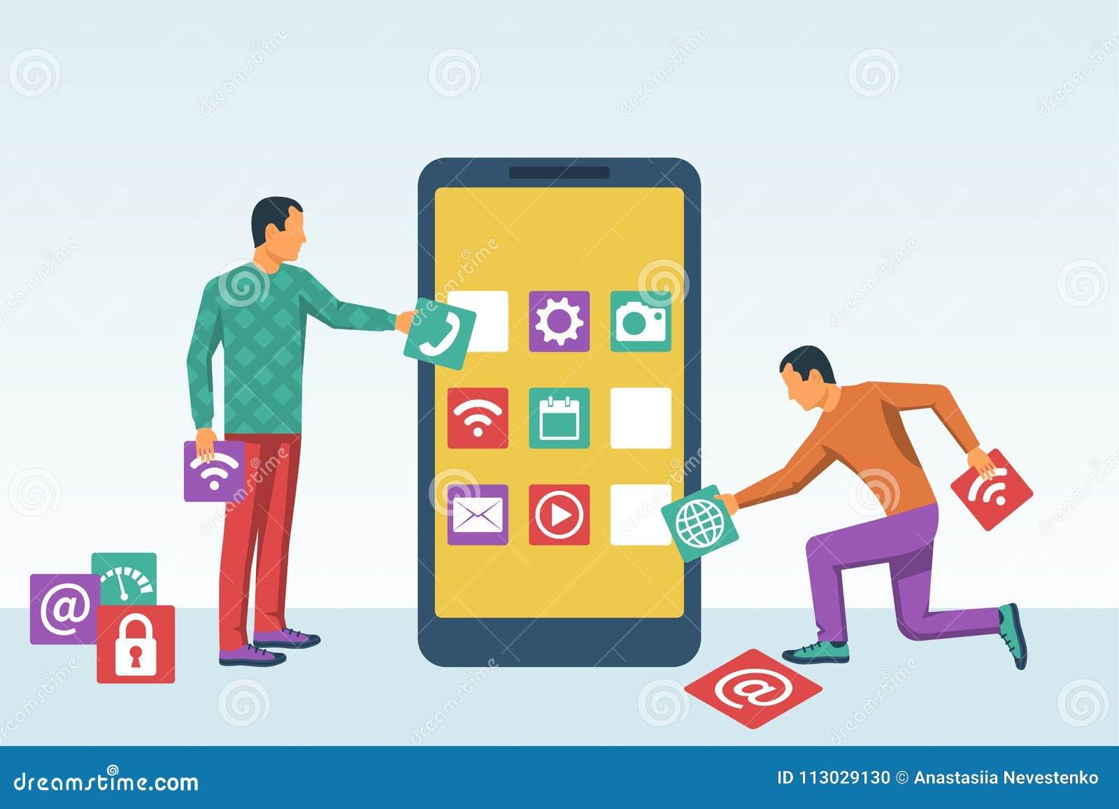 El desarrollo del interfaz, diseña el app móvil