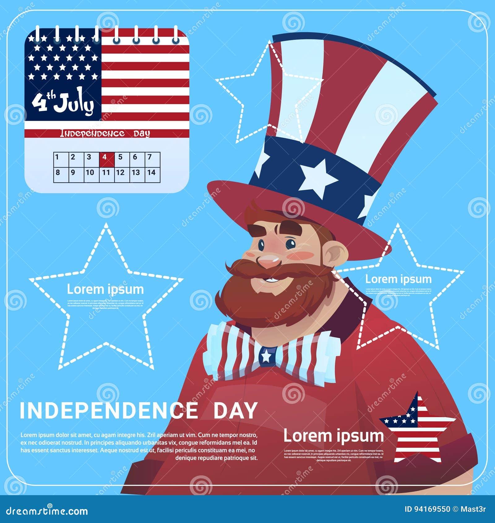 El Desgaste De Hombre Estados Unidos Señala Bandera Día De