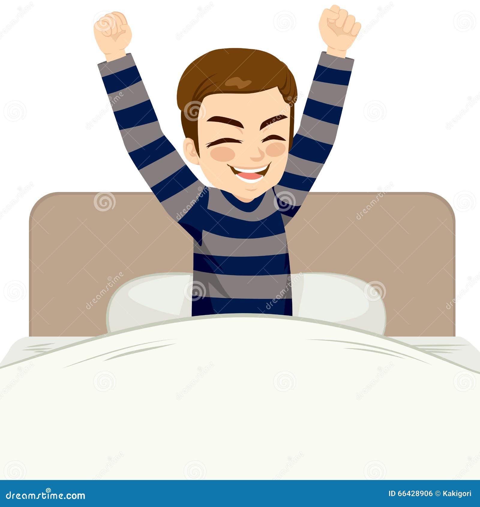 El Despertar Del Hombre Feliz Ilustraci 243 N Del Vector