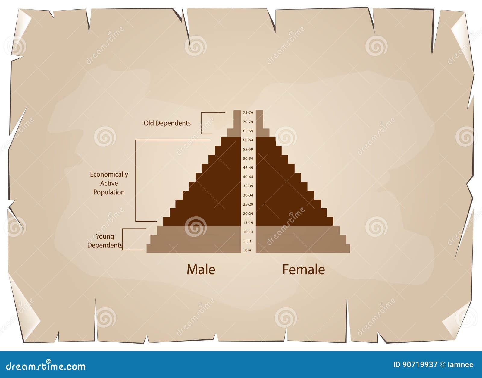 El detalle de los gráficos de las pirámides de población depende de edad