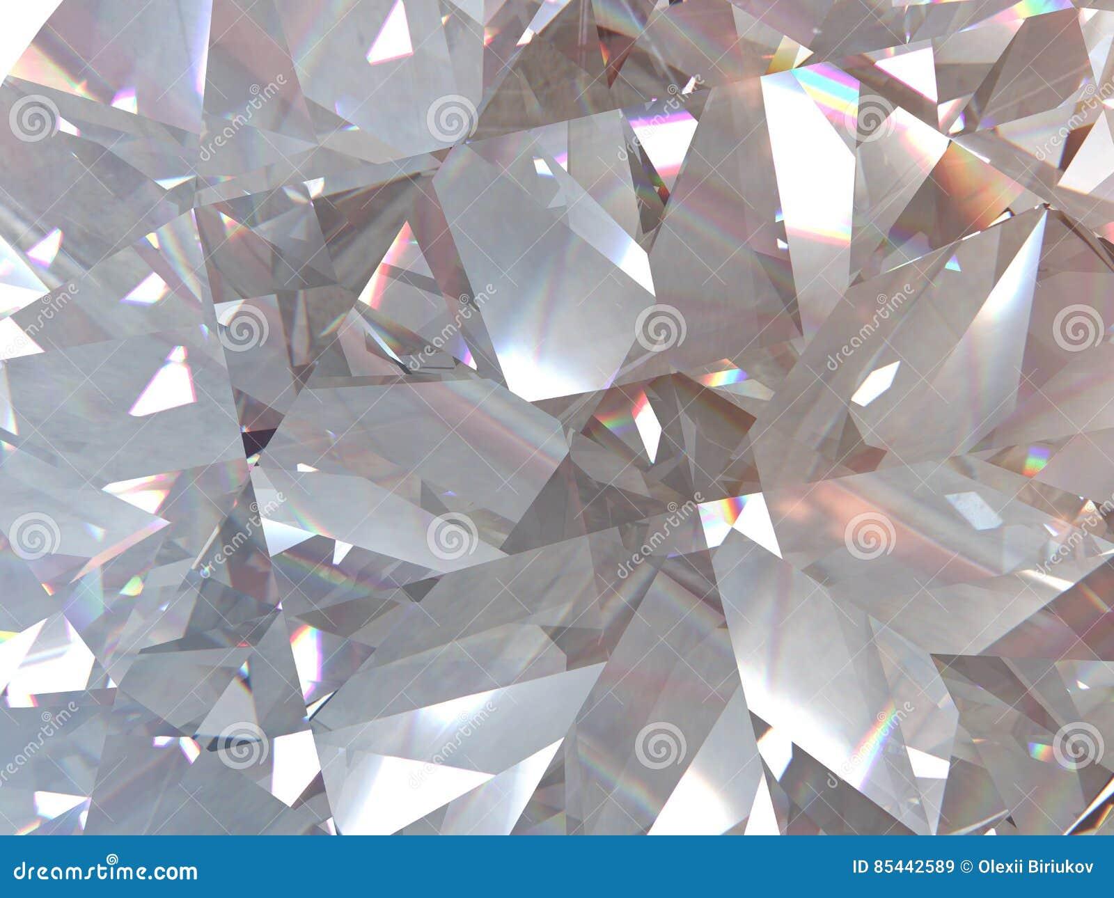 El diamante o el cristal triangular acodado de la textura forma el fondo modelo de la representación 3d