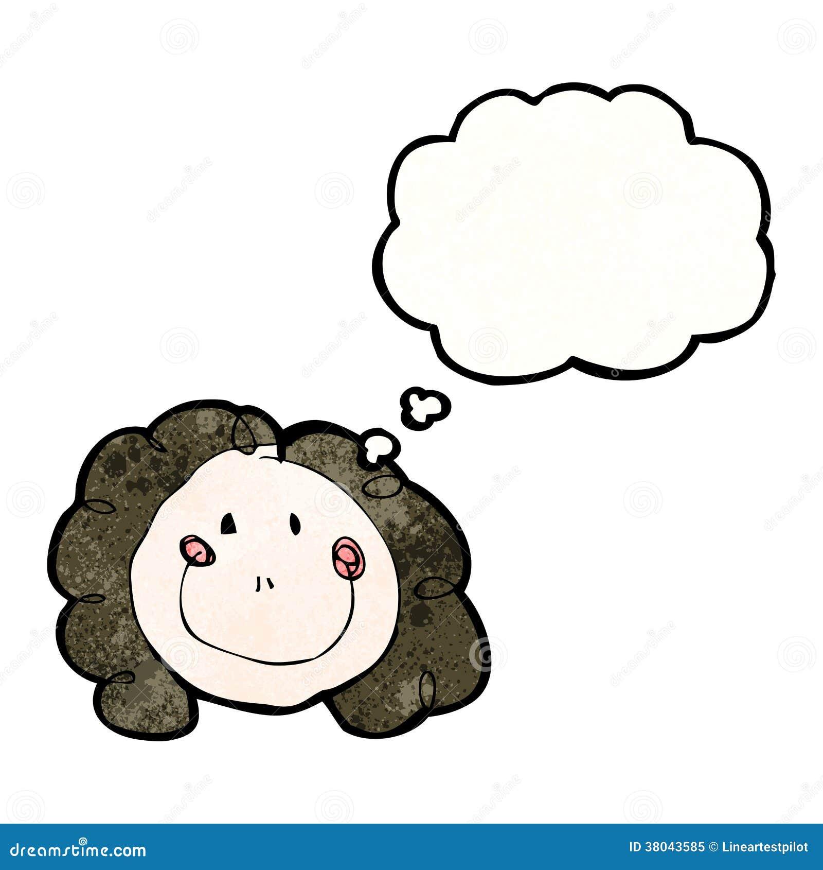 El Dibujo Del Niño De Una Cara Femenina Feliz Con La Burbuja Del