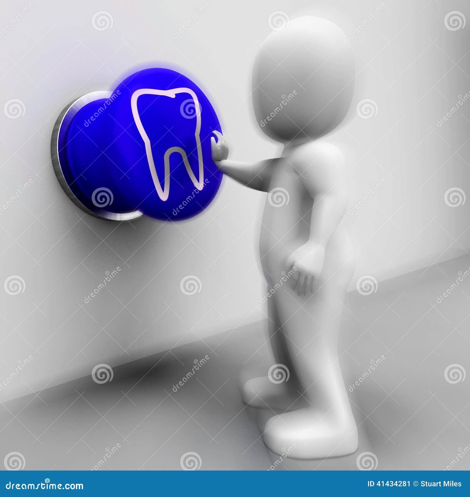 El Diente Presionado Significa La Salud Oral O Al Dentista ...