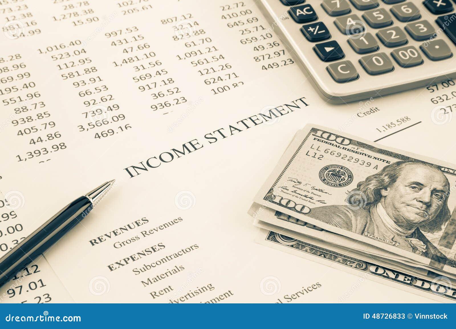 El dinero y la declaración de renta divulgan en tono de la sepia