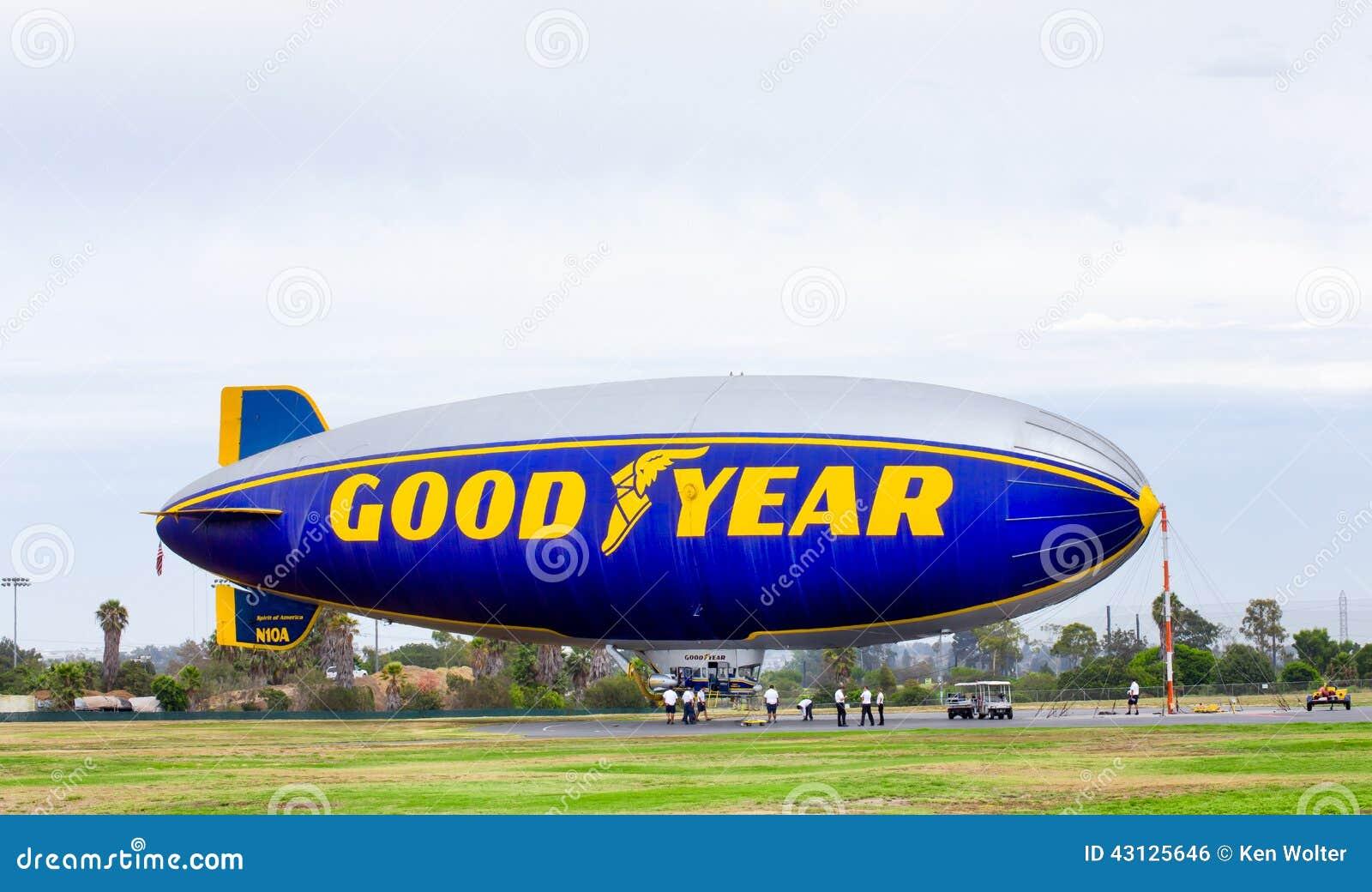 El dirigible no rígido de Goodyear