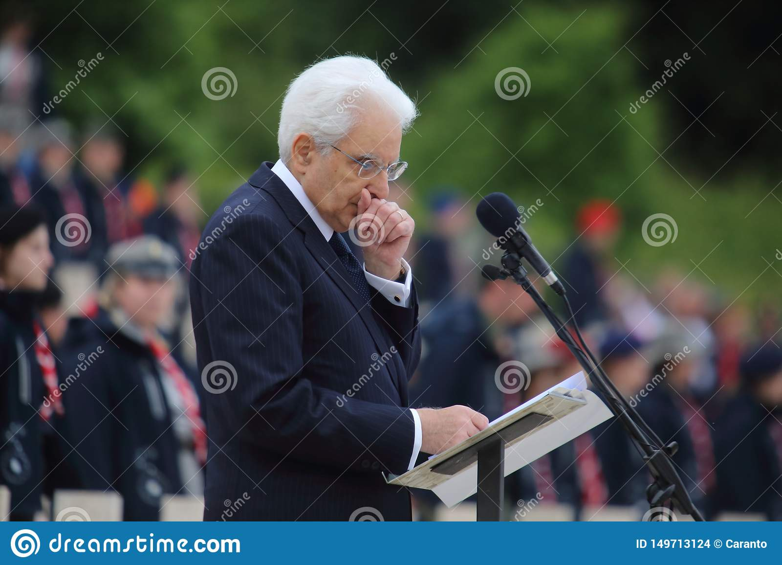 El discurso del presidente de la rep?blica italiana Sergio Mattarella en los militares polacos