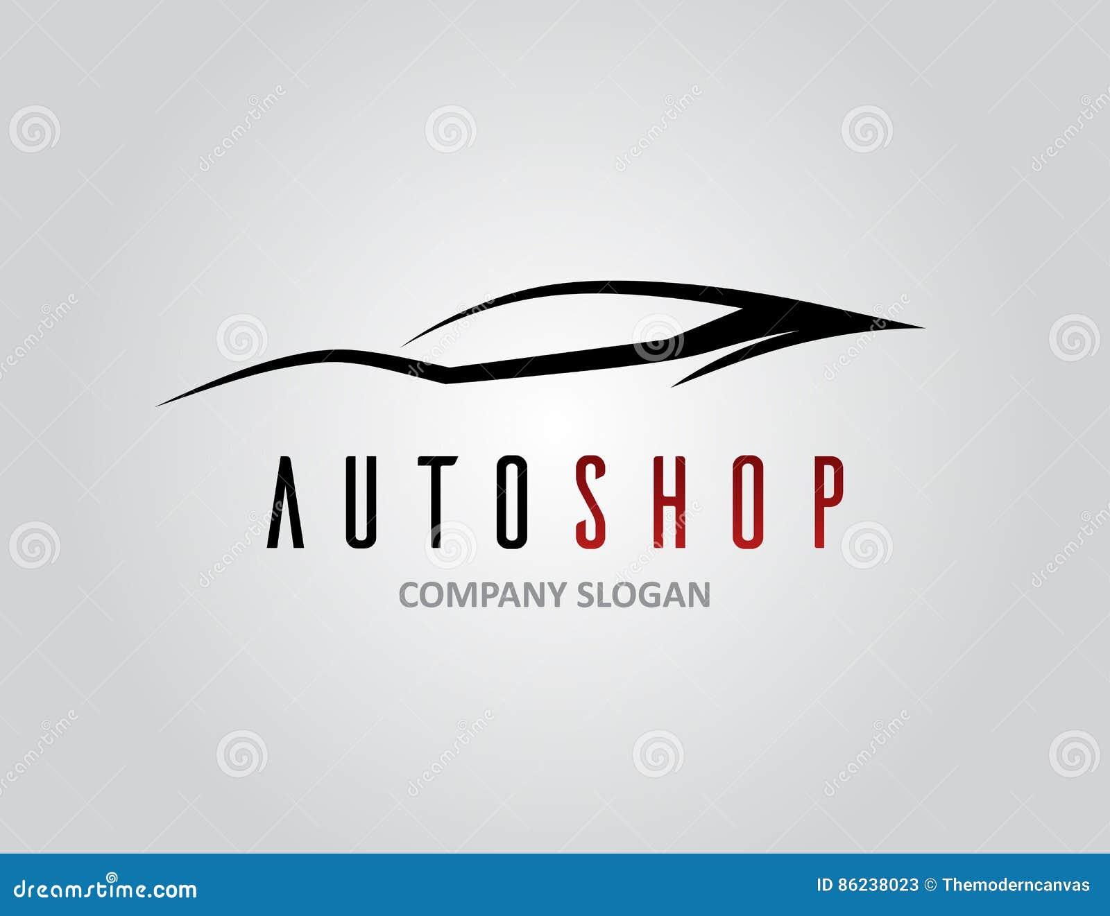 El Diseño Auto Del Logotipo Del Concesionario De Coches Con ...