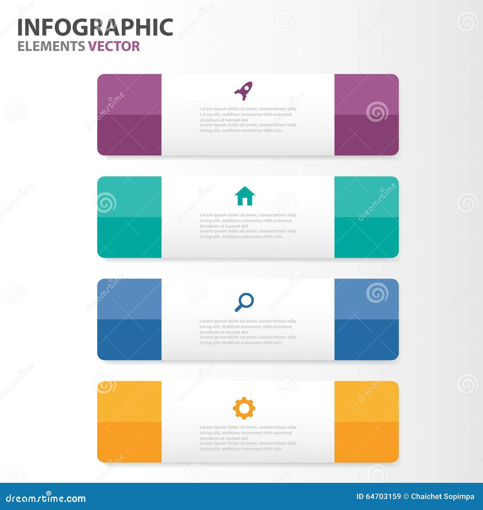 El Diseño Plano De Infographic De Los Elementos De Las Plantillas ...