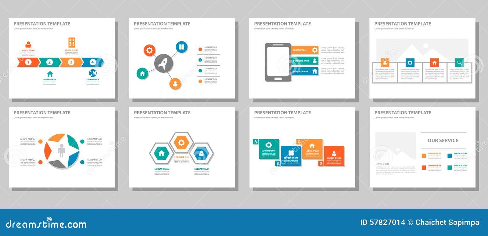 El diseño plano infographic multiusos anaranjado azulverde rojo de la presentación y del elemento fijó 2