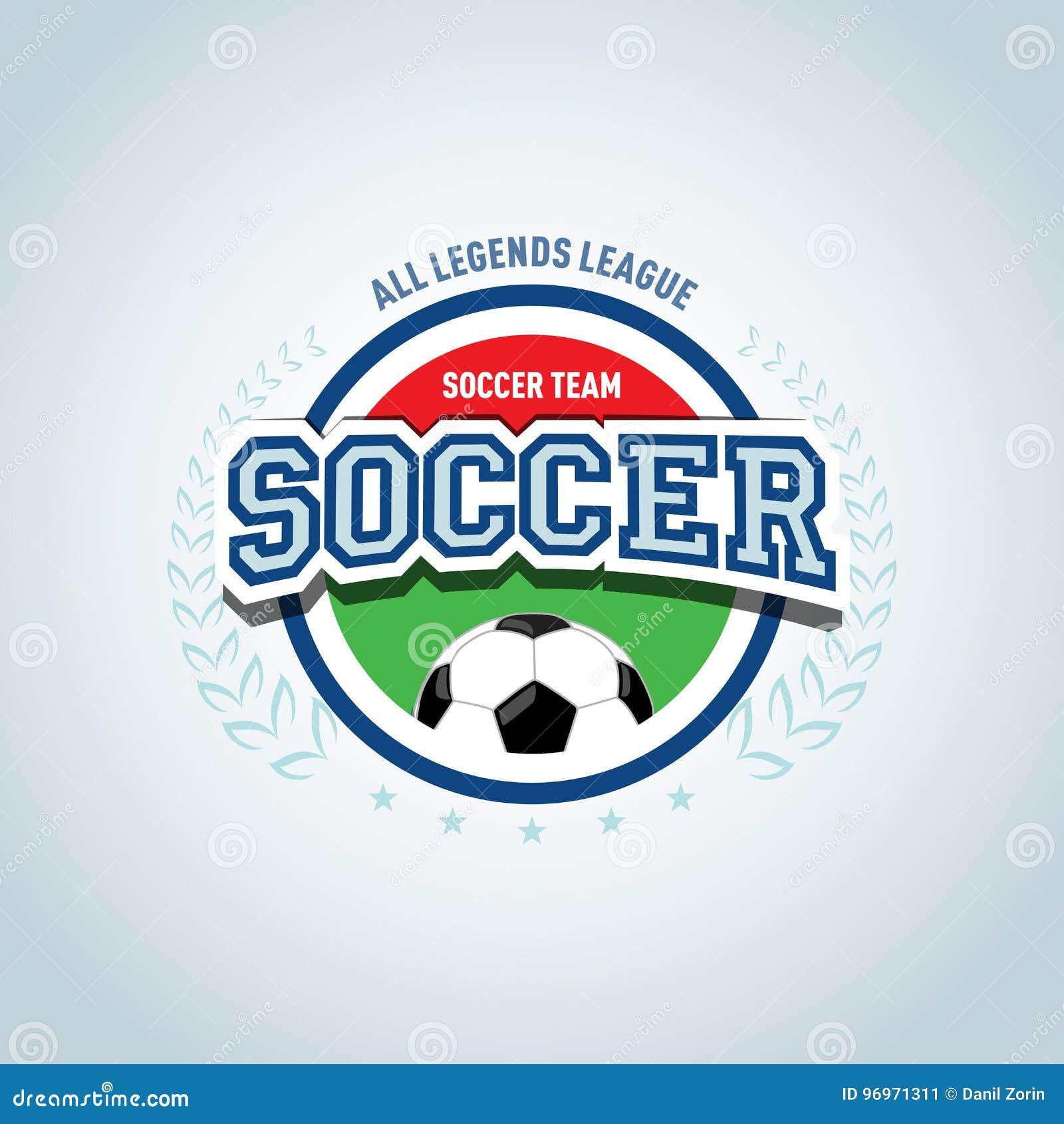 El diseño redondo de la plantilla del logotipo de la insignia del fútbol 17481db591785