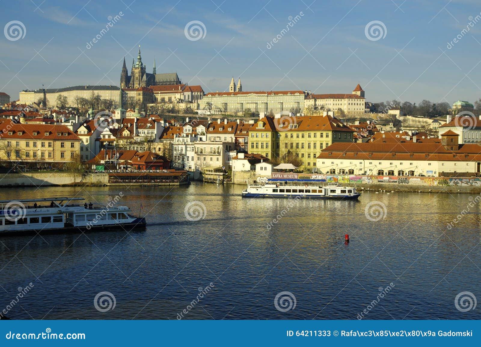 El distrito del castillo (Hradcany) en Praga