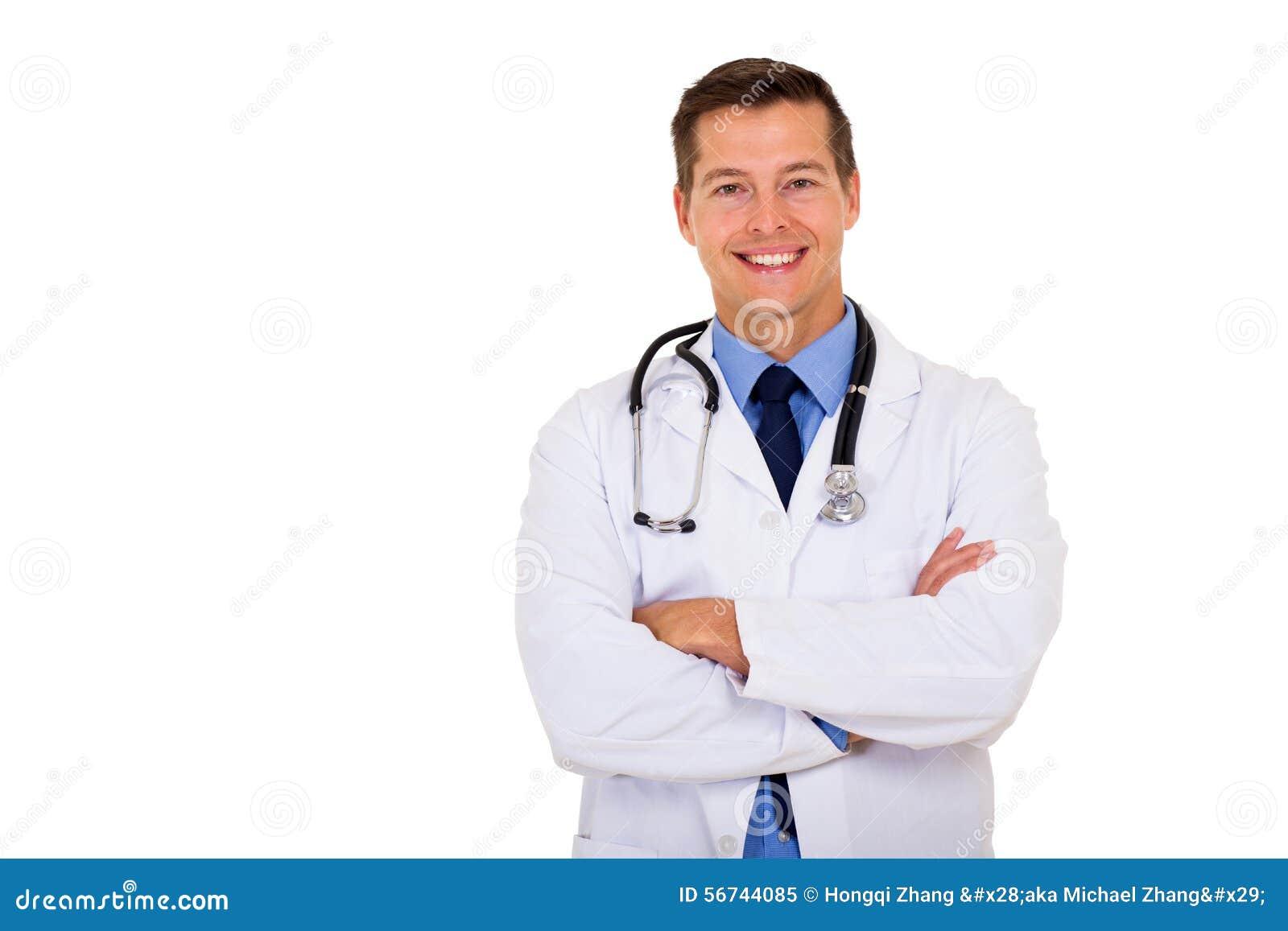 El doctor de sexo masculino Portrait