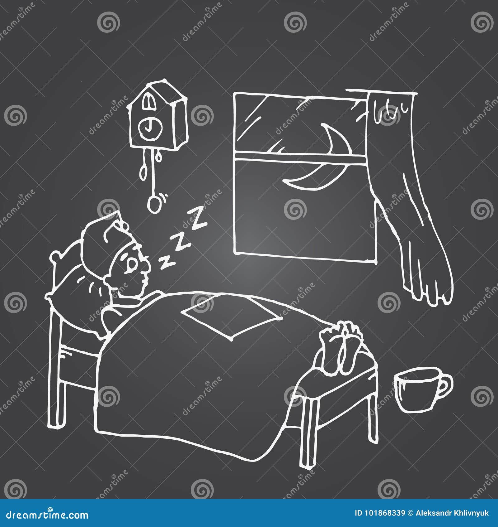 El dormir cansado del hombre