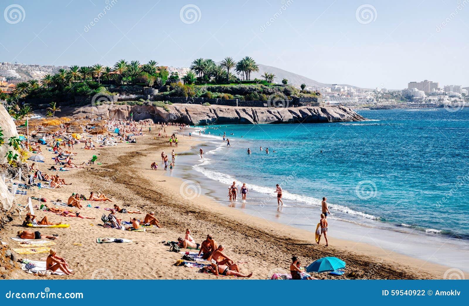 El duque beach in tenerife canary islands editorial for Designhotel teneriffa