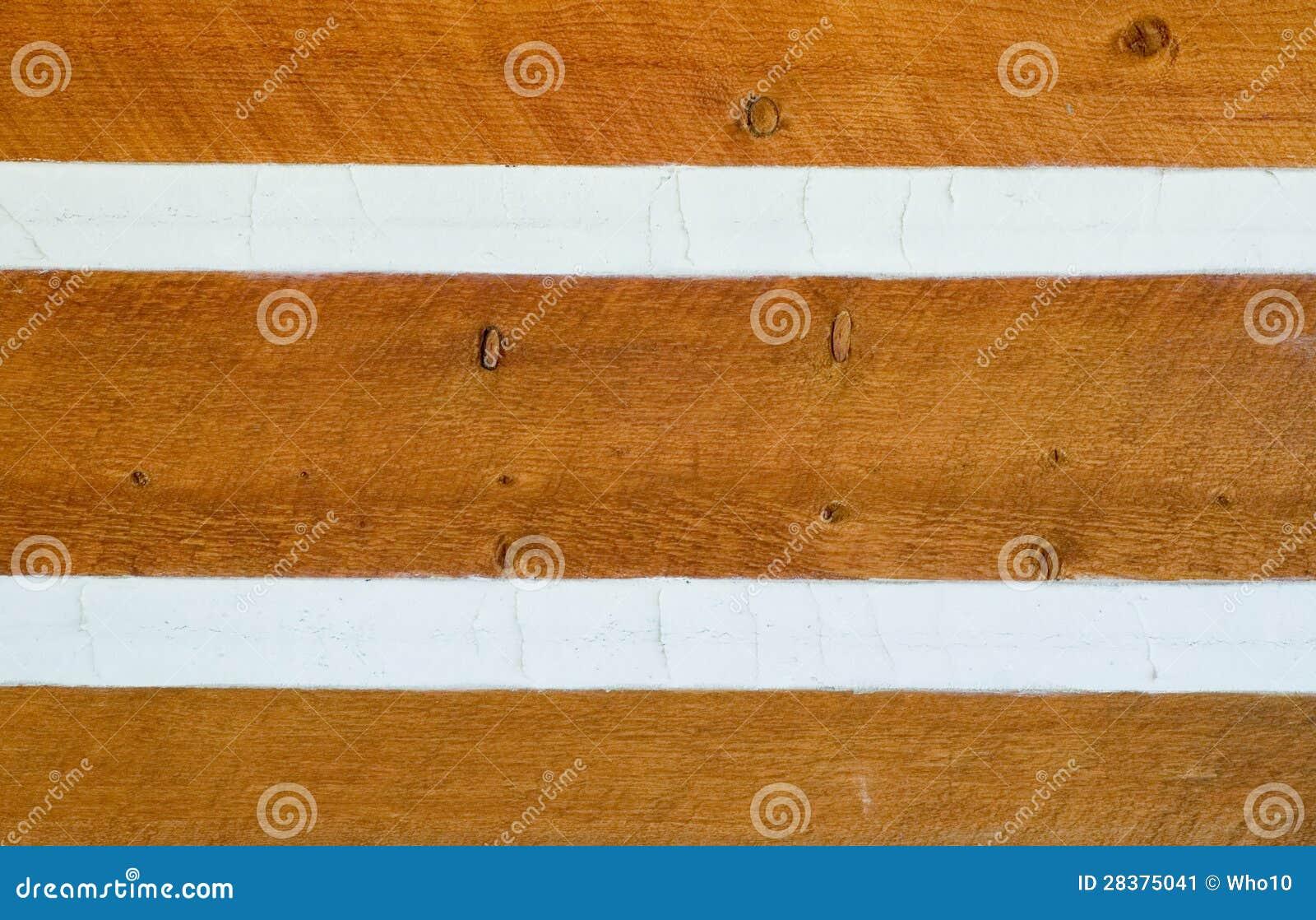 El echar a un lado en la cabaña de madera