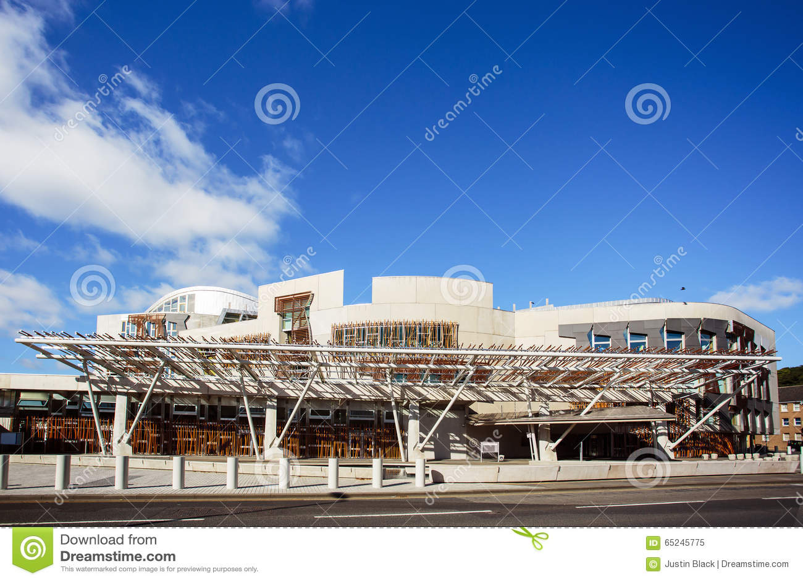 El edificio del parlamento escocés