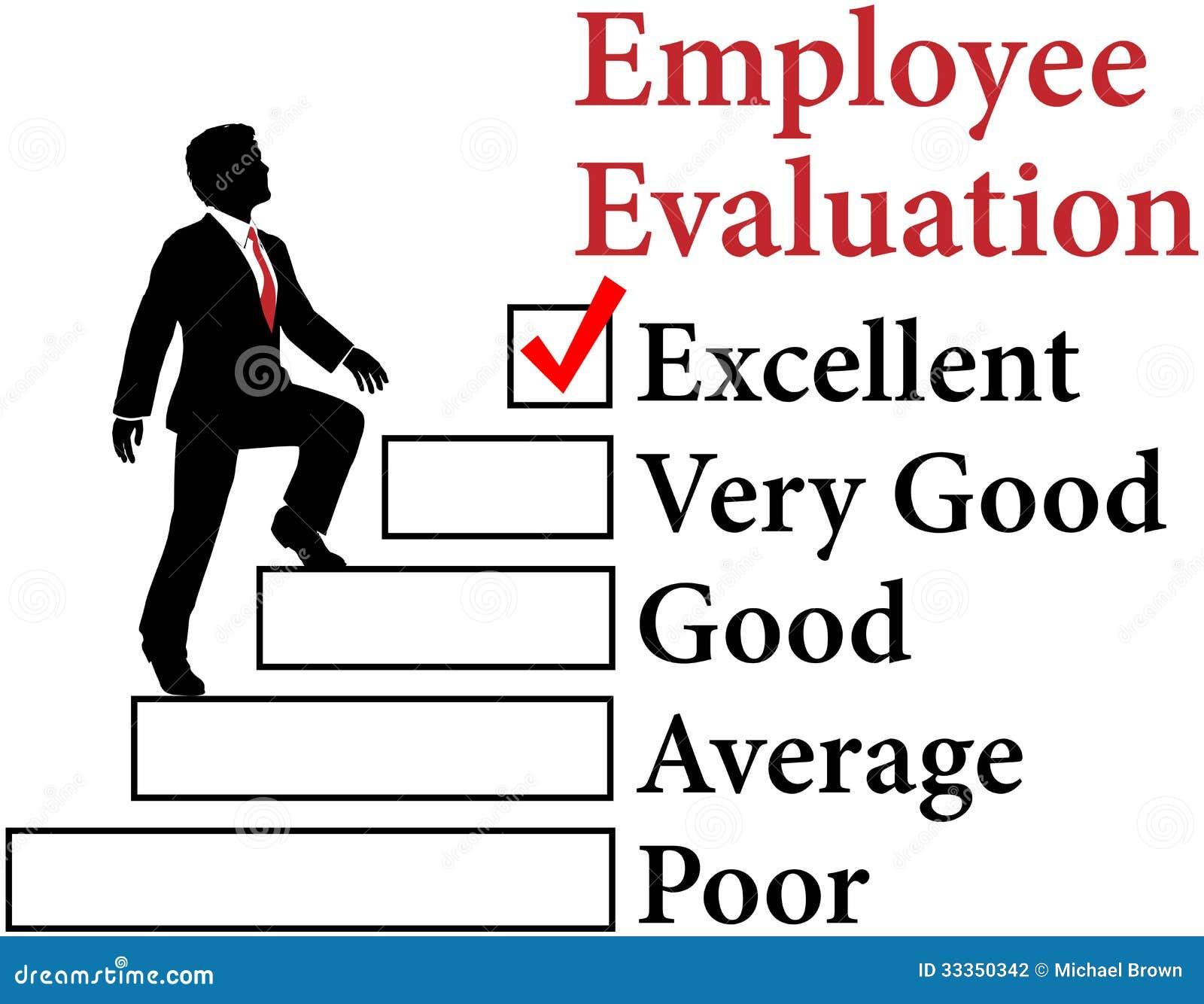 El empleado del negocio mejora la evaluación