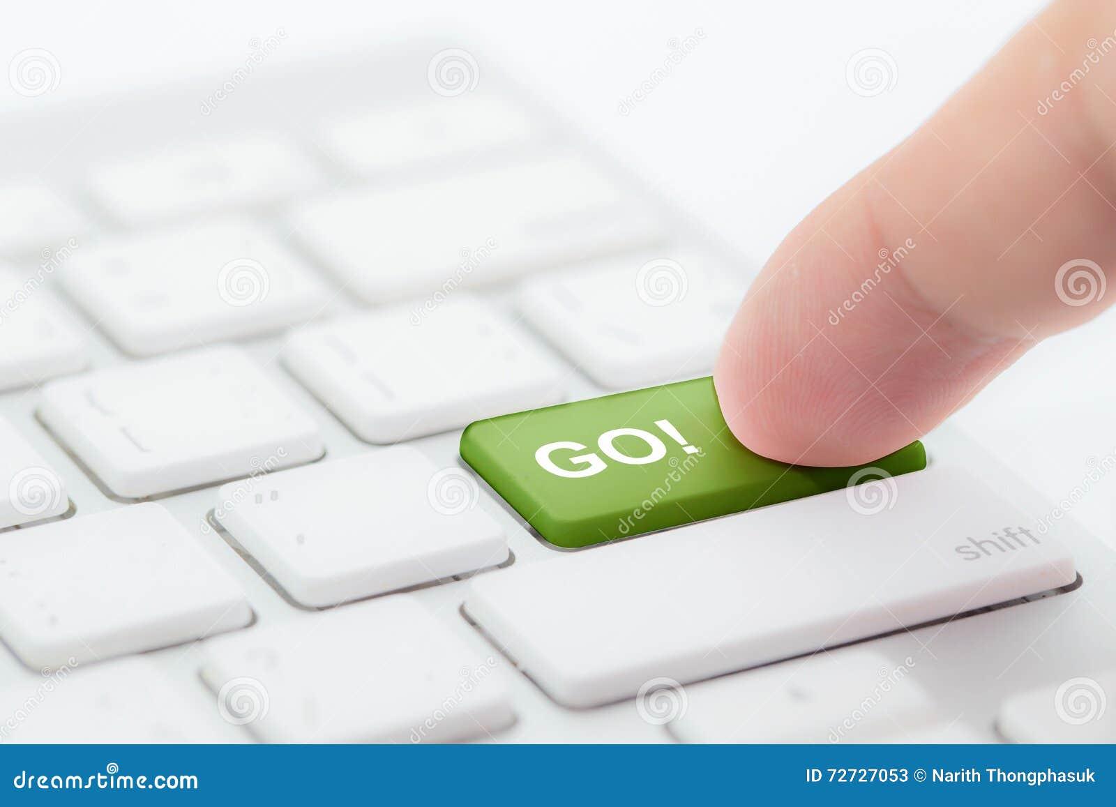 El empujar manualmente va botón verde