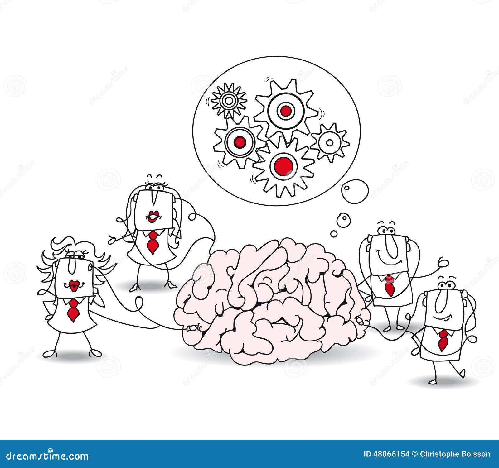 El equipo del negocio y el cerebro