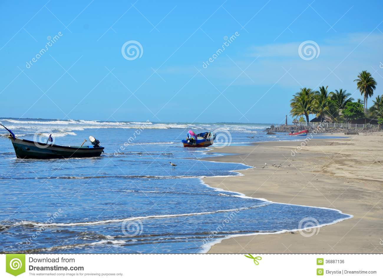 Download EL Espino, El Salvador Di Playa Fotografia Stock - Immagine di colorful, energia: 36887136
