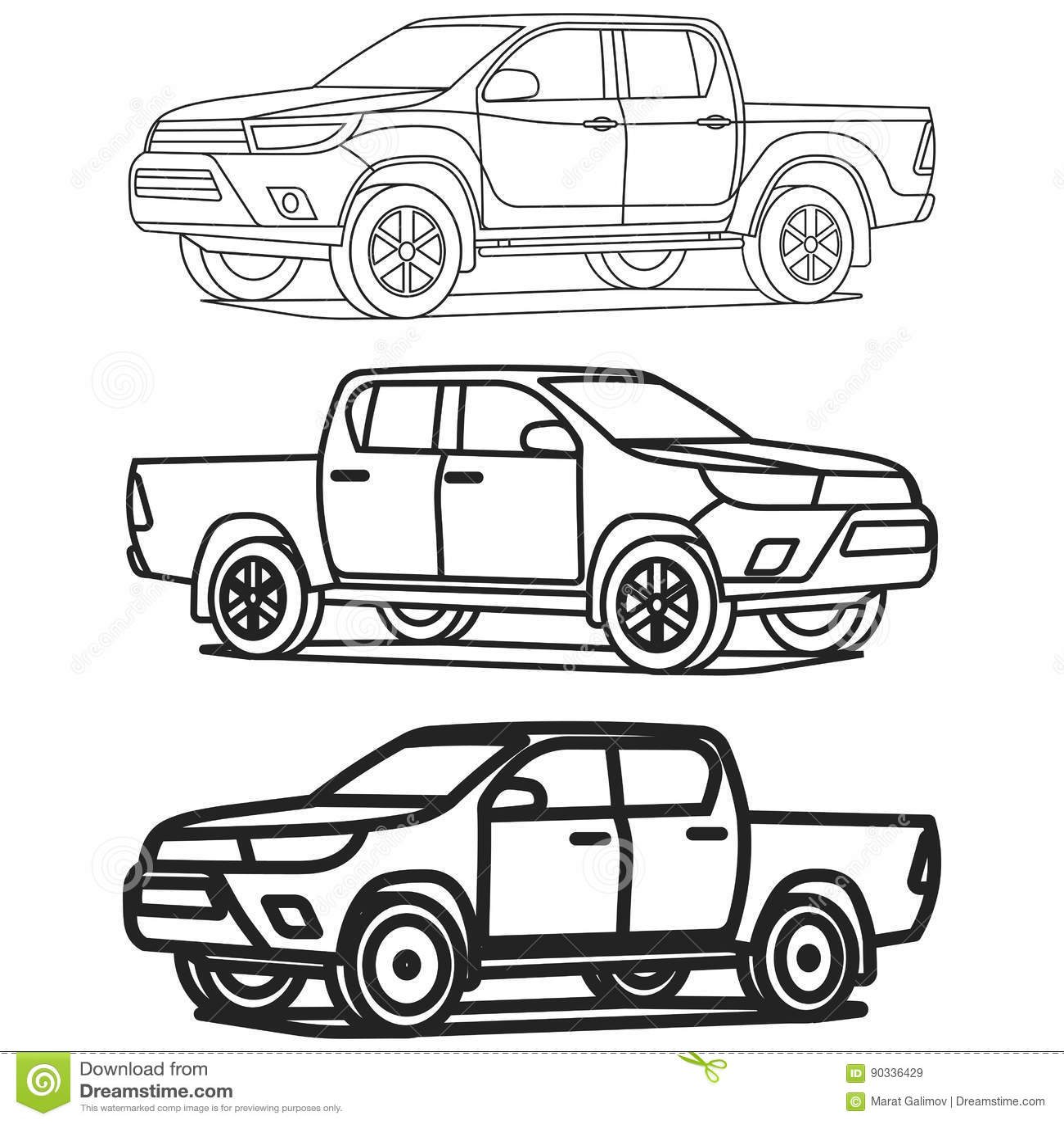 el esquema de la camioneta pickup fij u00f3 en el ejemplo