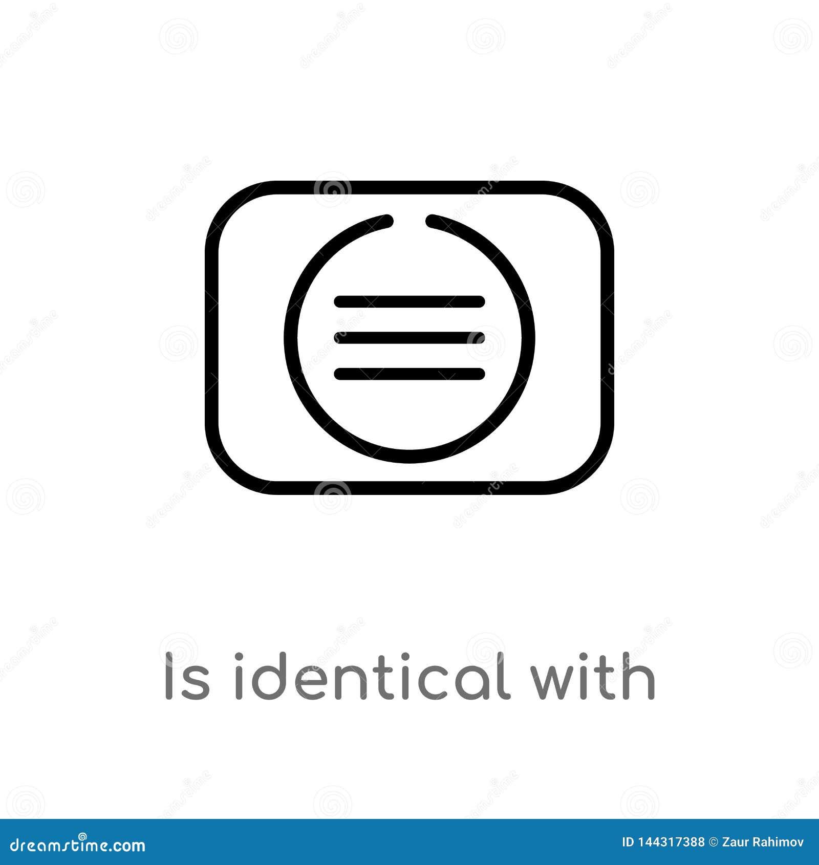 El esquema es id?ntico con el icono del vector l?nea simple negra aislada ejemplo del elemento del concepto de las muestras Movim