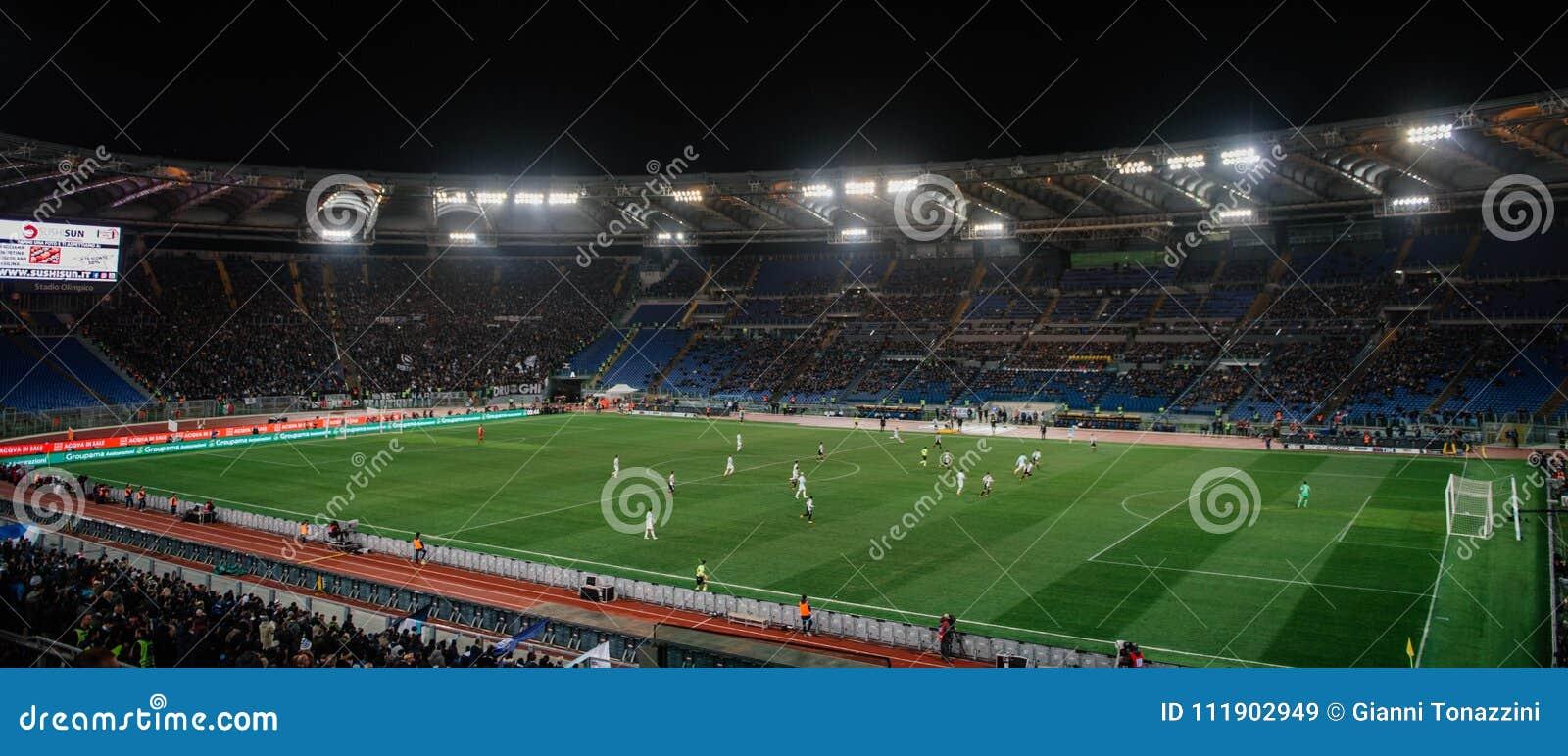 El estadio Olímpico en Roma, Italia