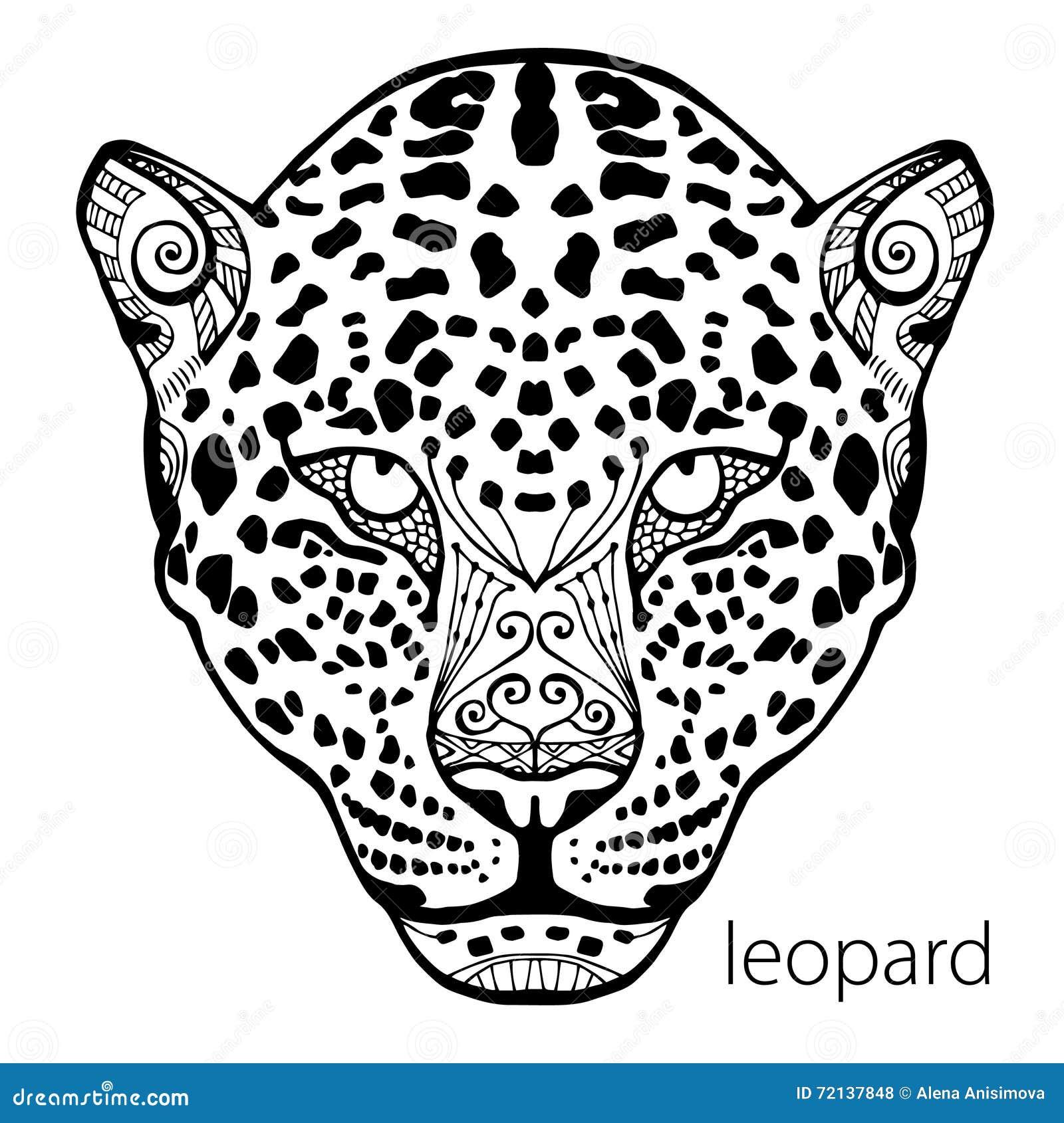 El Estampado Leopardo Blanco Y Negro Con Los Modelos étnicos Libro ...