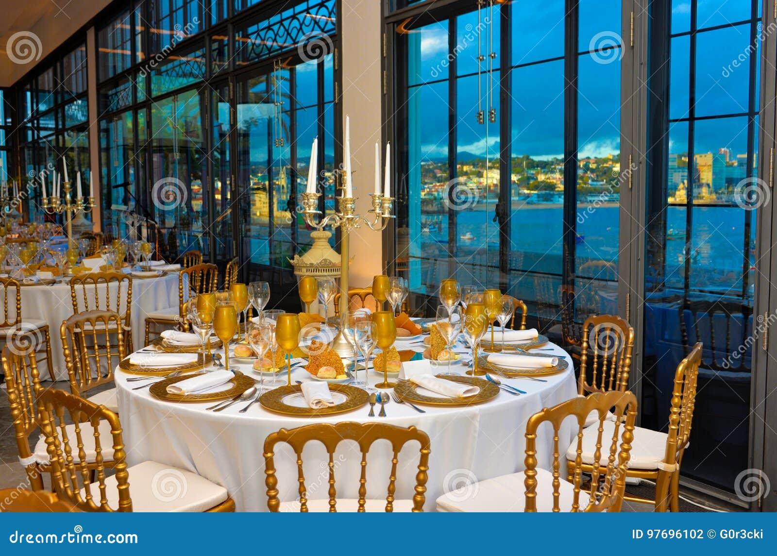 El Evento Corporativo Cena Con Marina Bay View Decoración
