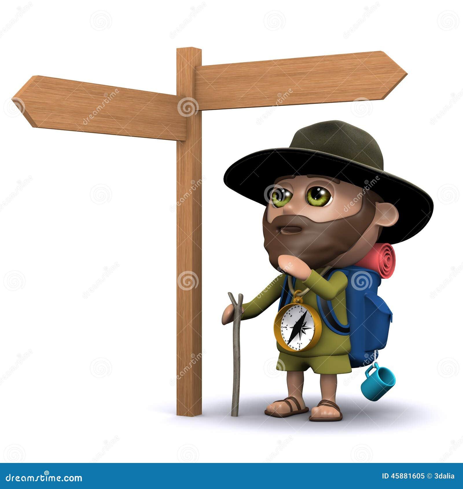 El explorador 3d decide su ruta