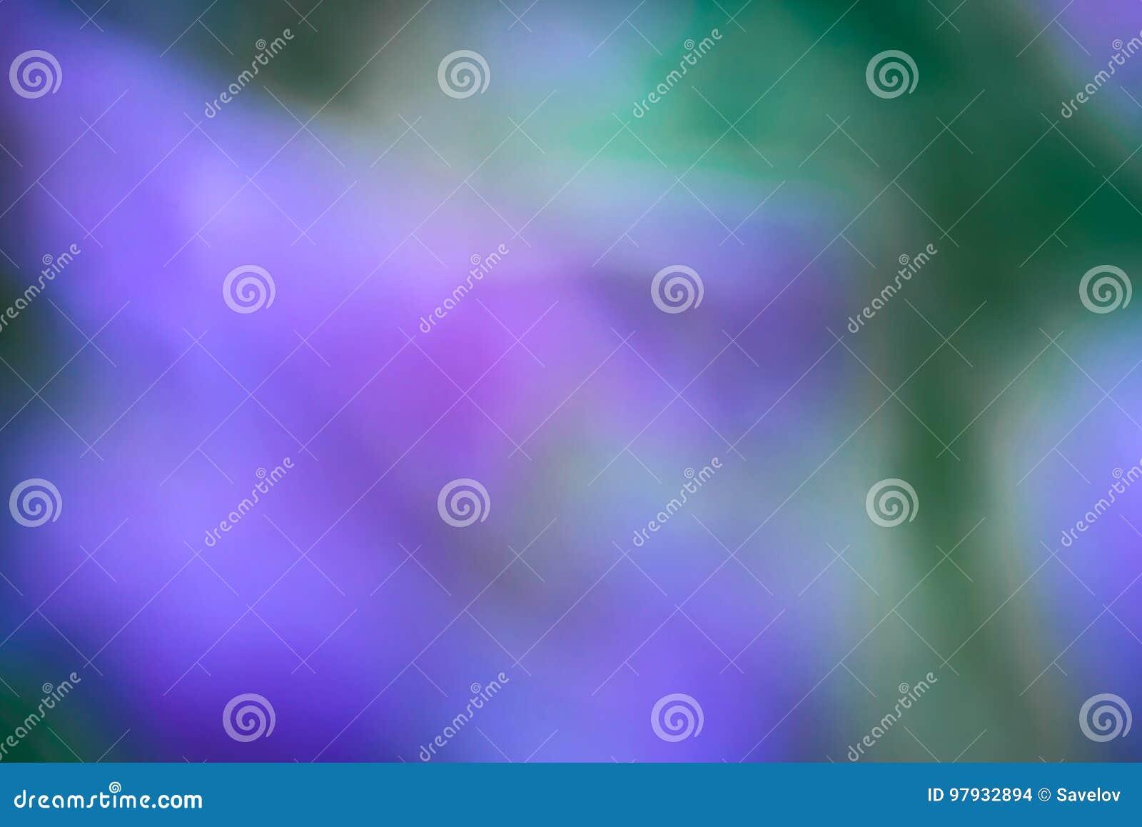El extracto empañó el fondo, el azul, la violeta y el verde coloridos